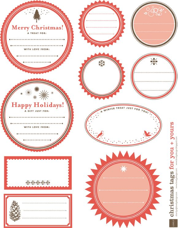 Free Printable Holiday Gift Tag Roundup