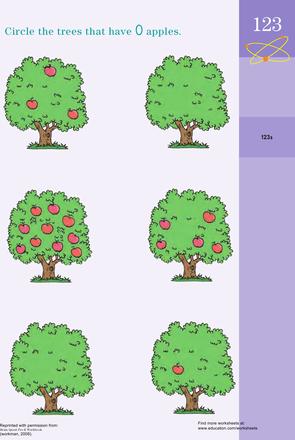 Learning the Concept of Zero | Apple Unit | Preschool ...