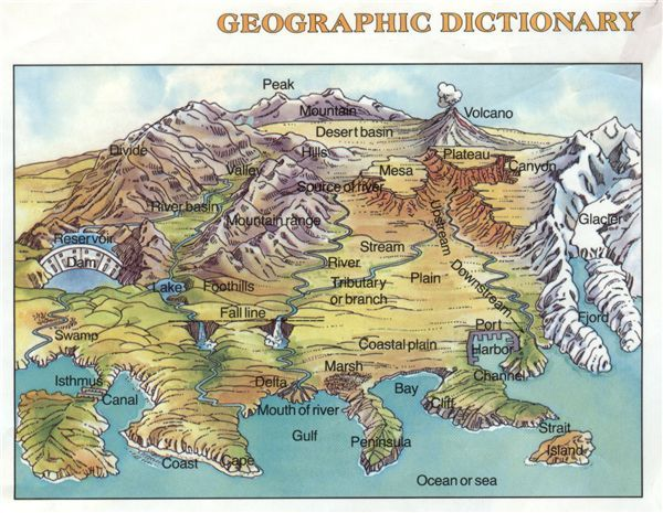 Geographic features science pinterest explore illustrated maps world maps and more gumiabroncs Images