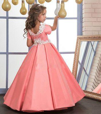 Neu Blumenmädchen Kleid Mädchen Kinder Prinzessin Fest Kleid ...