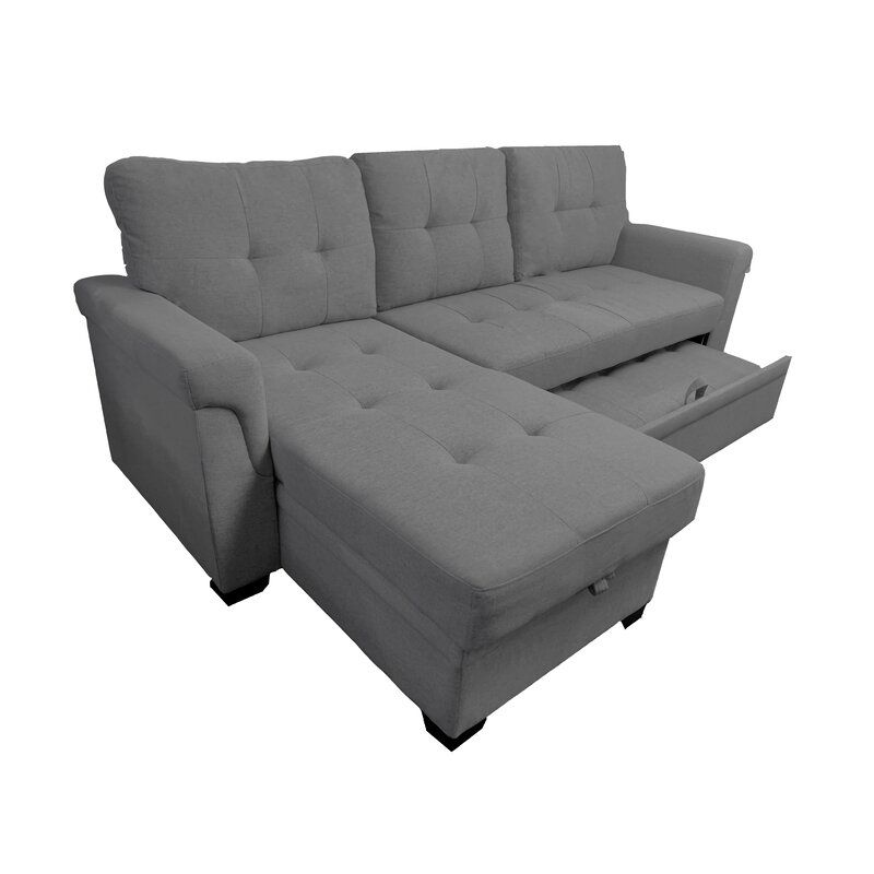 Theo 86 Reversible Sleeper Sectional In 2020 Sectional Sleeper Sofa Best Sleeper Sofa Sleeper Sectional