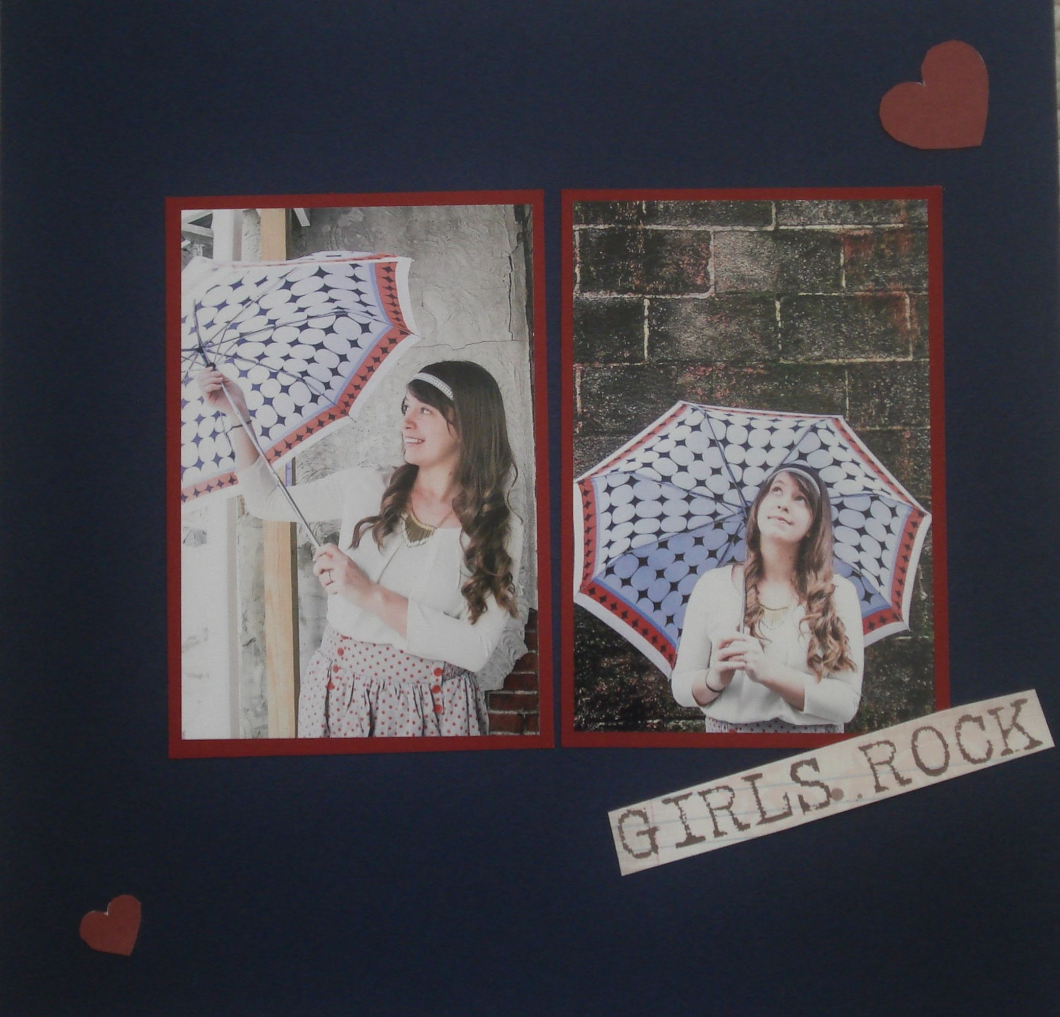 Charming Lucy once again. This was a simple layout using color cardstock and just a couple embellishments. The pictures tell the story.