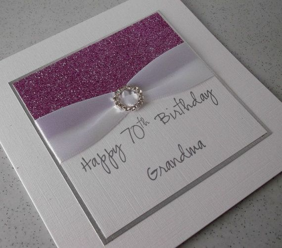 Handmade 70th Birthday Card Mum Mom Grandma Sister Daughter