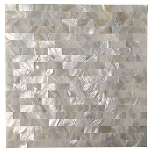 Art3d 6 Pack Peel And Stick Mother Of Pearl Shell Tile Fo