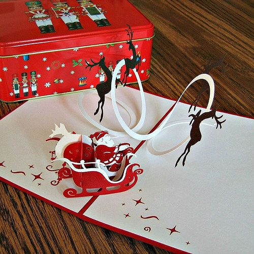 blogged a collection of holiday cards and paper y gifts that includes this lovepop cards santa card paper art paper craft round ups pinterest cards