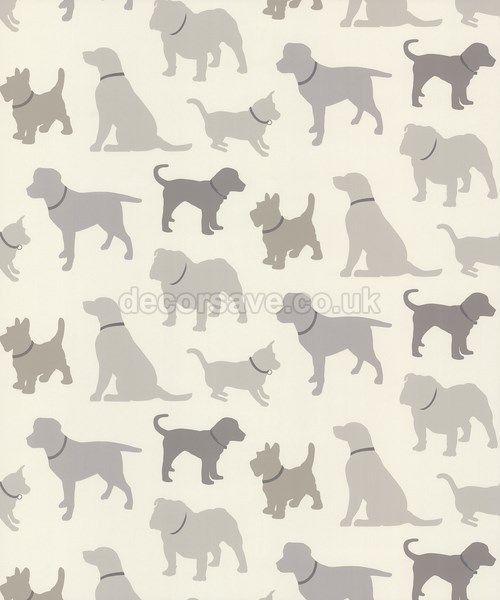 Arthouse Vip Walkies Wallpaper 622008 Animal Print Theme Neutral Wallpaper Home Art Dog Wallpaper
