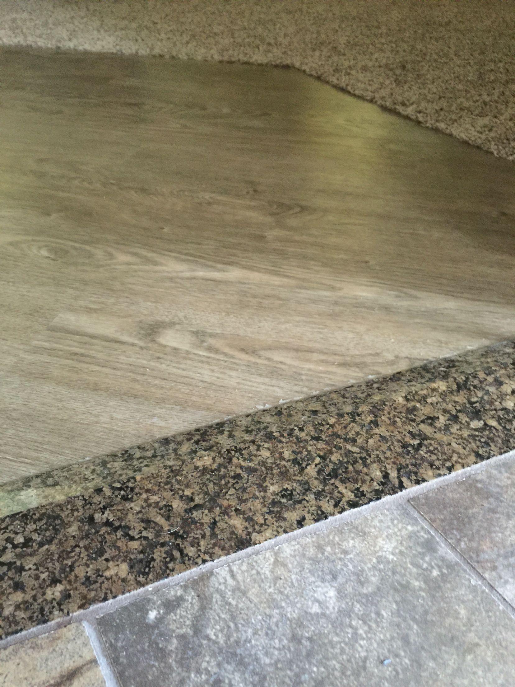 Transition To Master Bathroom To Master Bedroom Tile Granite To Vinyl Plank To Carpet Floor Remodel Shower Remodel Granite Shower
