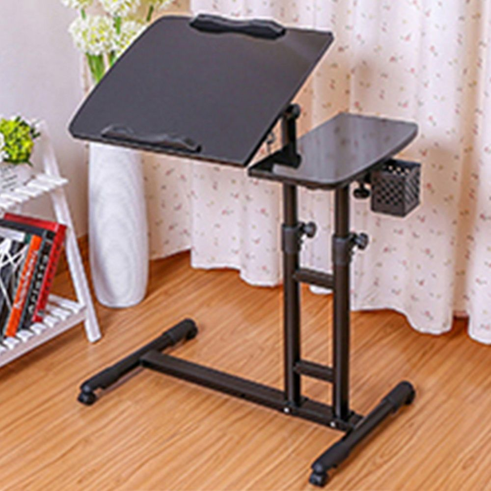 Angle Height Adjustable Rolling Laptop Notebook Desk Over