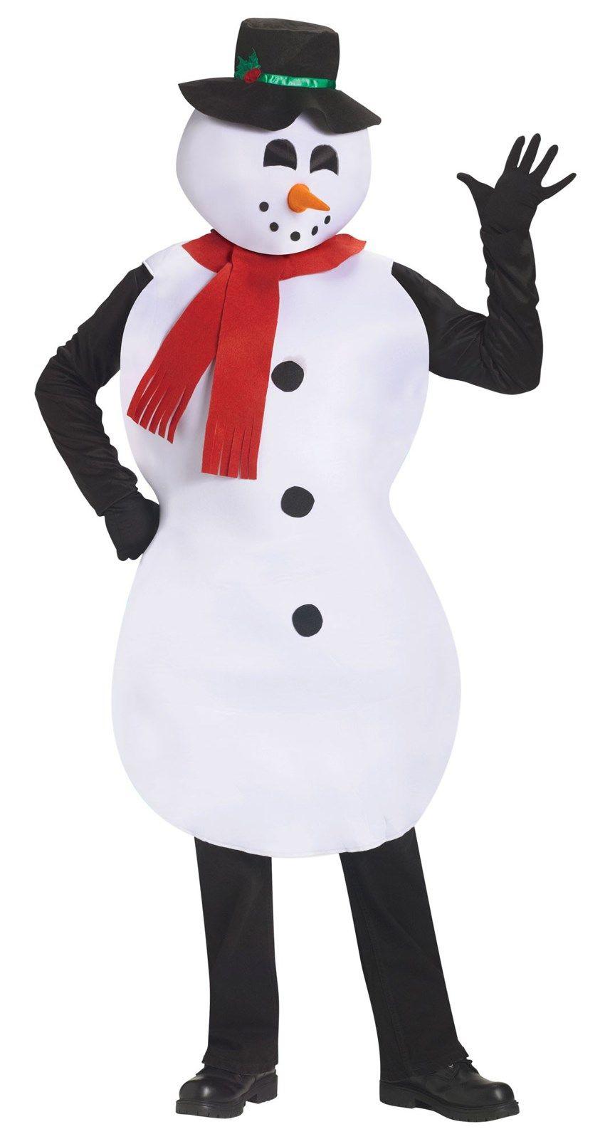 Adult Snowman Tunic Costume Snowman costume, Adult