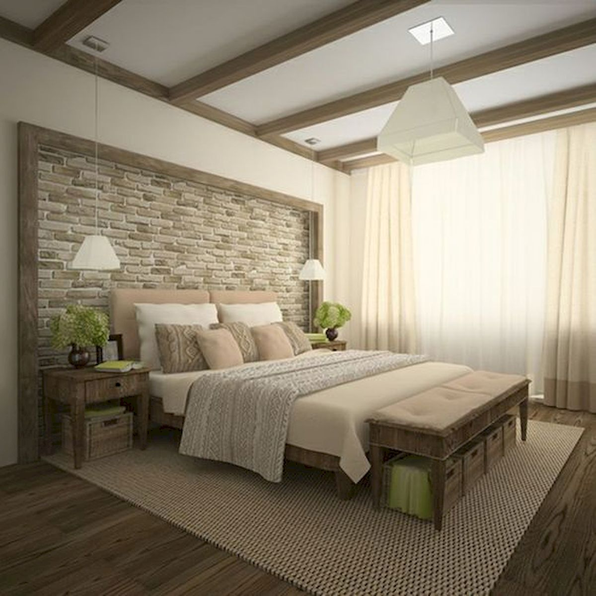 120 Awesome Farmhouse Master Bedroom Decor Ideas