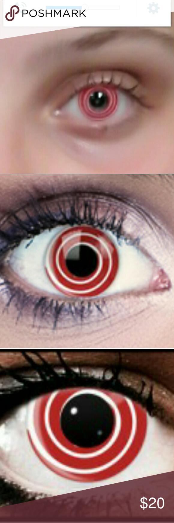 red and white spiral non prescription contacts no prescription