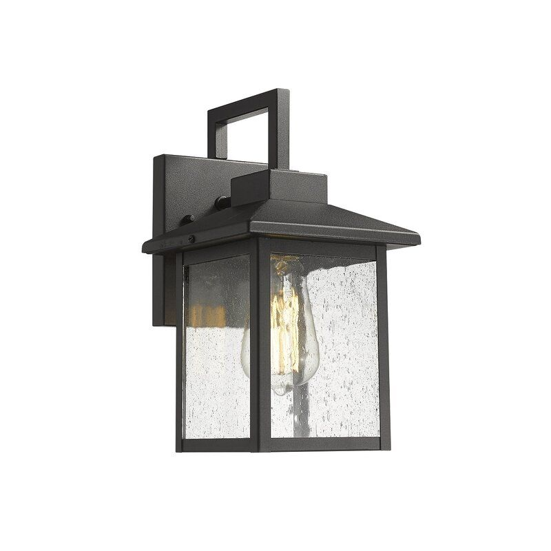 Ogallala Outdoor 1 Light Black Armed, Outdoor Sconce Lighting Reviews