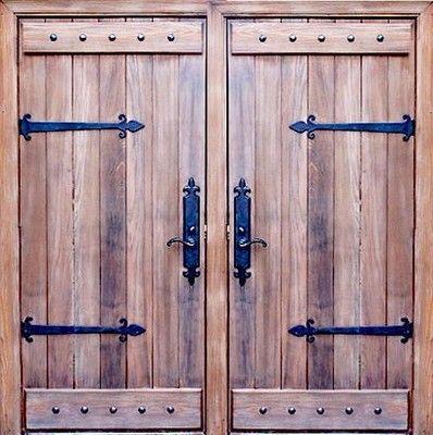 Knotty Alder Barn Wood Exterior Double Entry Doors Custom Wood Door ...