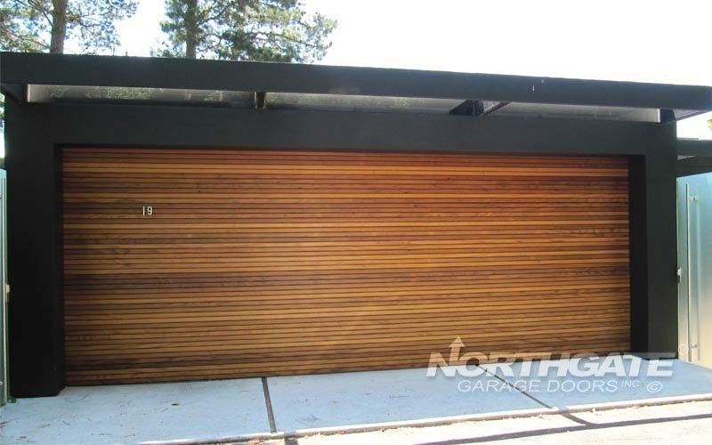 Plank Flush Recessed Garage Doors Garage Door Design Custom