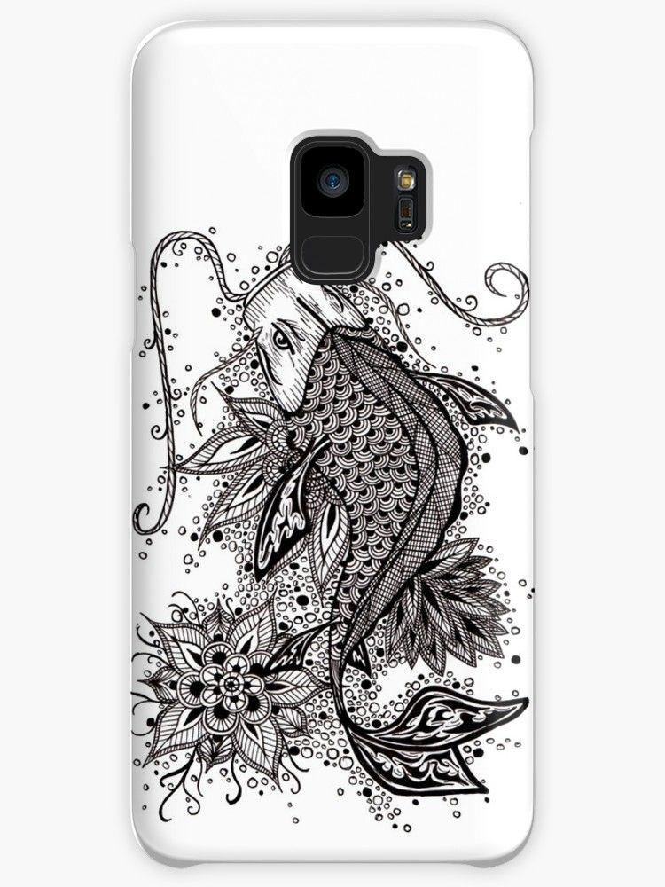 on sale f9e38 224df Zen Koi' Case/Skin for Samsung Galaxy by Zeichenbloq | Phone Cases ...