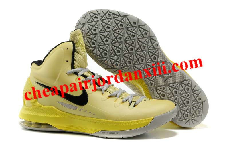 new product eead2 98bfd Nike Zoom KD V 5 Tartrazine Yellow Black Shoes