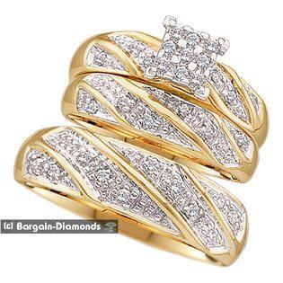 Sears Com Wedding Ring Trio Sets Wedding Ring Bands Set Wedding Ring Bands