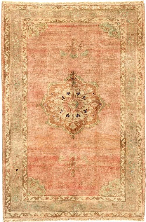 Product No: U-3010 Title: Vintage Oushak Rug Size: 4ft 04in X 6ft 04in Circa: 1940