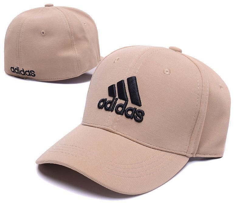 528d6c405f4 Men s   Women s Adidas The 3 Stripes Embroidery Logo Flexfit Hat - Sand    Black