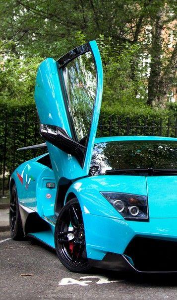 Baby Blue Lamborghini Murcielago Cars Bikes Blue Lamborghini