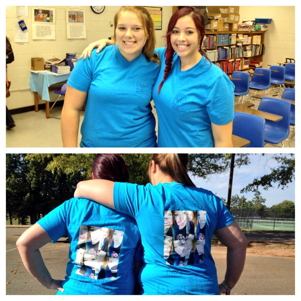 Homemade bestfriend shirts for twin day during school ...