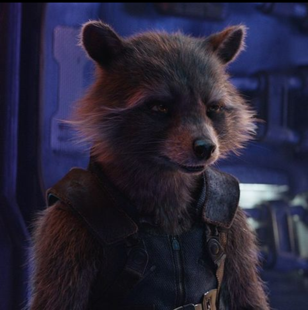 In Avengers Endgame 2019 Thor And The Other Asgardians Call Rocket A Rabbit Because Raccoons Were Not Introduced Int Avengers Rocket Raccoon Man Thing Marvel