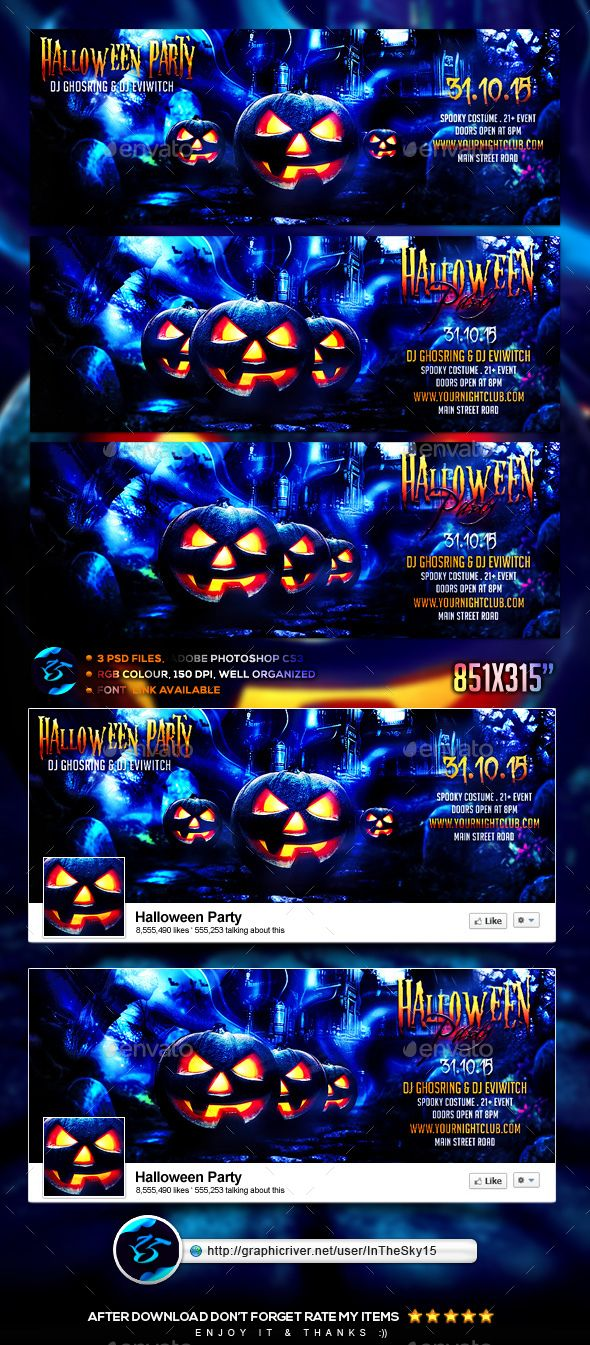 Halloween Party FB Timeline Cover | Timeline, Timeline covers and ...