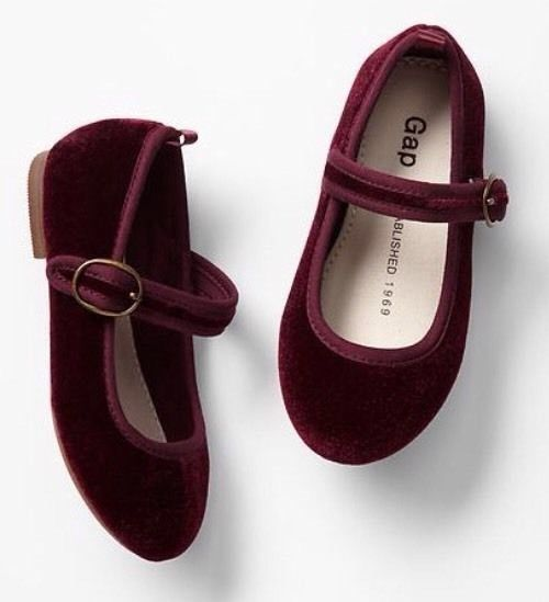 cea67c7c07aa GAP Baby   Toddler Girl Size 10 NWT Red   Bordeaux Velvet Mary Jane Flats  Shoes  BabyGap  Flats