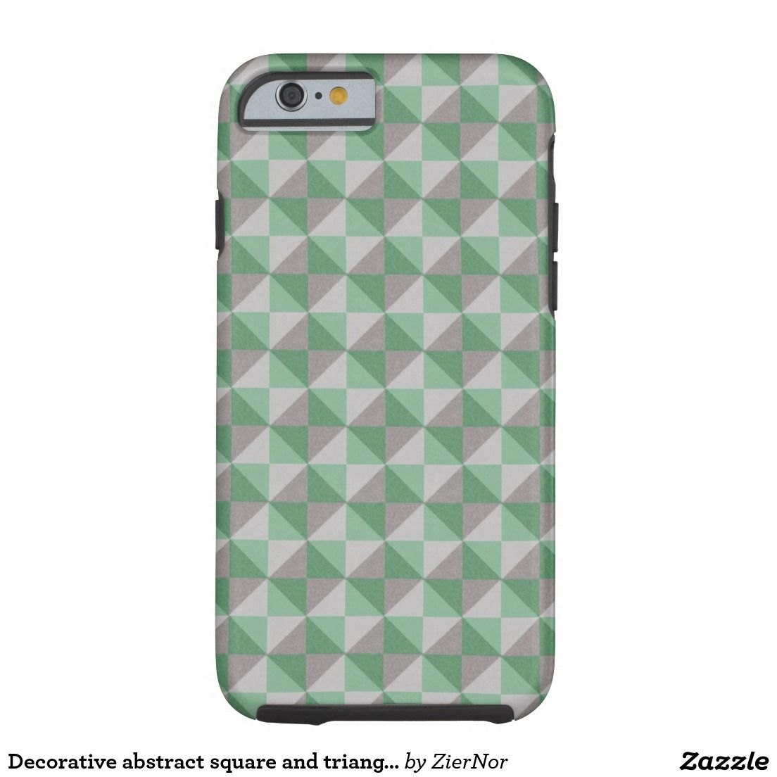 Decorative abstract square and triangle pattern tough iPhone 6 case