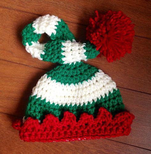 Preemie/Newborn Elf Hat pattern by The Dainty Daisy