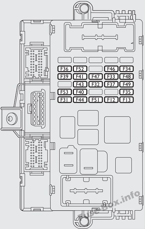 Instrument panel fuse box diagram: Fiat Bravo (2007-2016