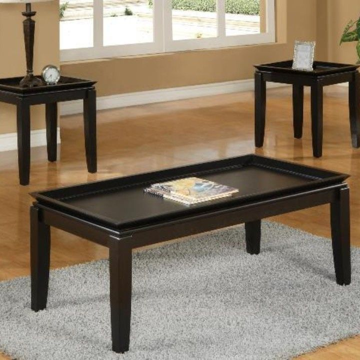 Calla Coffee Table Set 3 Pc From Furniture To Love For 174 95 On Square Market Coffee Table Affordable Living Room Furniture Coffee Table Wood