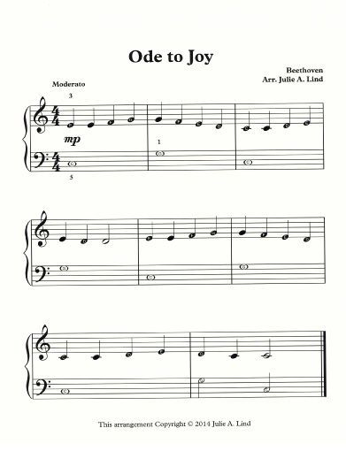 Piano Students Love To Play Ode To Joy This Free Piano