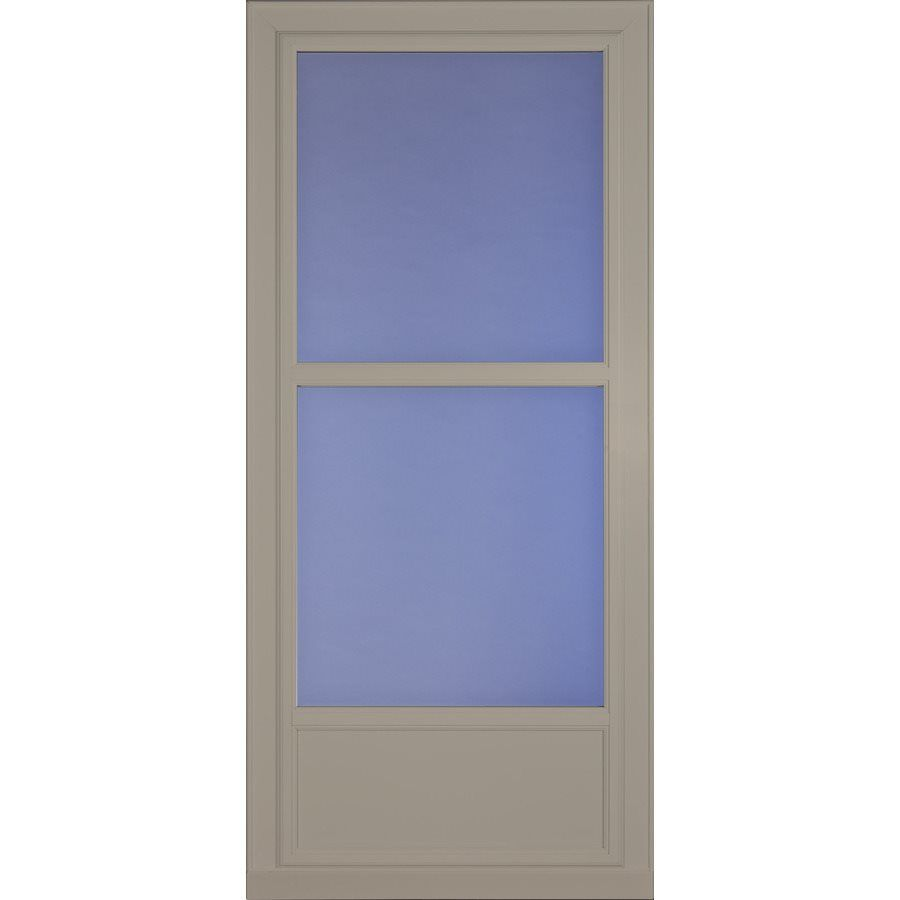 Shop Larson 36-in x 81-in Sandstone Tradewinds Mid-View Tempered