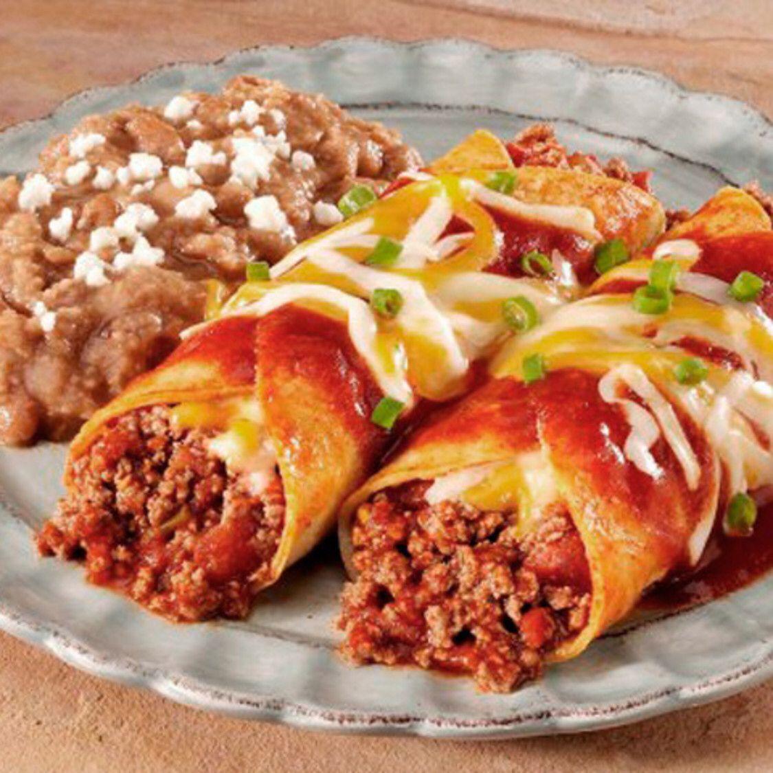 Beef Enchilada Rancheras | Recipe | Beef enchiladas, Food ...