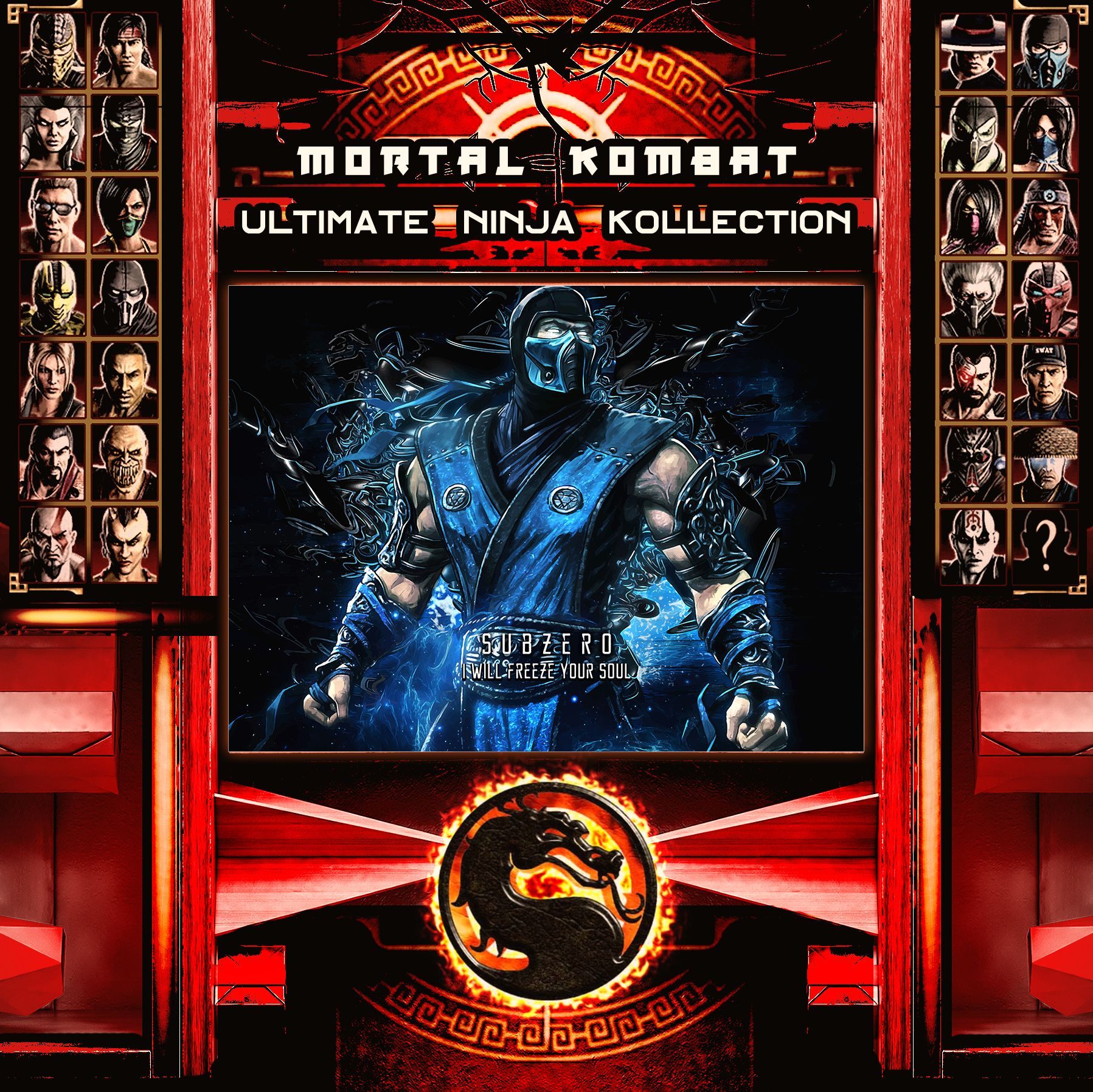 Mortal Kombat Ultimate Ninja Collection Subzero Metal Print | Displate thumbnail