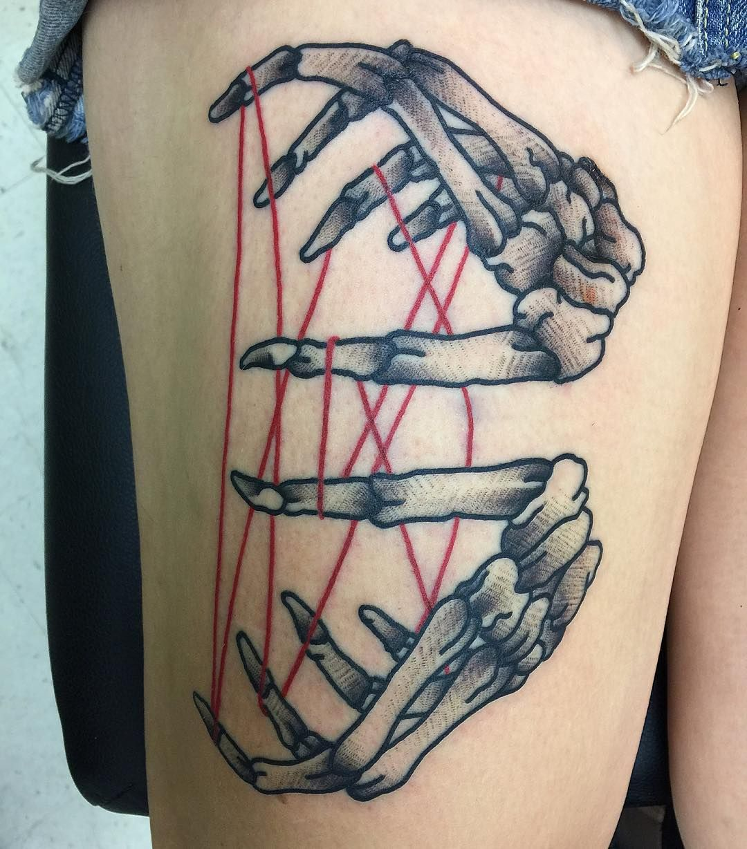 Skeleton Hands Playing Cats Cradle Tattoo By Isaiah Toothtaker Toothtaker At Staring Without Caring In Tuscon Az Hand Tattoos Skeleton Hand Tattoo Tattoos