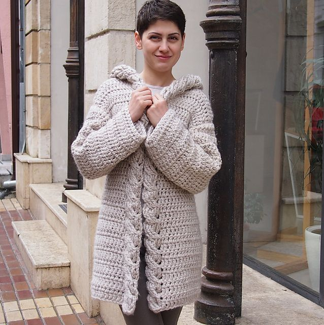 Ravelry: Very Winter hooded cardigan pattern by Accessorise $5.50 ...