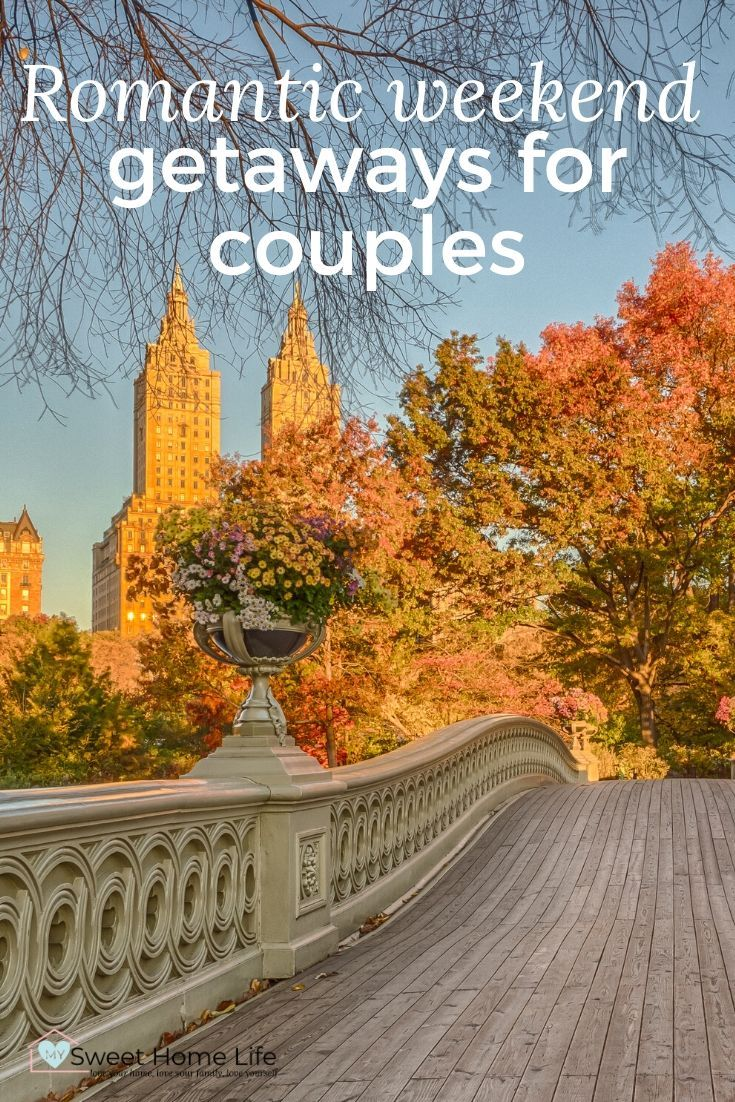 A couple's weekend is the perfect way to take some time out for each other with minimum impact. These romantic weekend getaways for couples will inspire you to make a quick escape from daily life that is filled with passion and romance! #travel #weekendgetaway #romanticgetaway