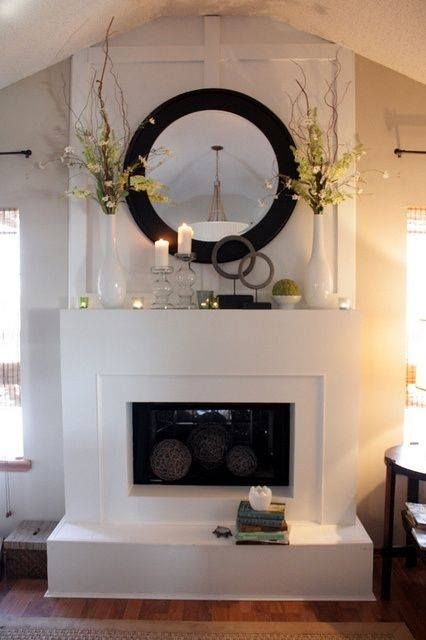 7 Tips For Designing An Eye Catching Fireplace Bellacor Bright Ideas Blog Fireplace Mantle Decor Fireplace Mantel Designs Contemporary Fireplace
