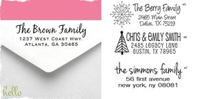Custom Personalized Self-Inking Return Address Stamps. Choose from 8 Designs! Makes a great gift!