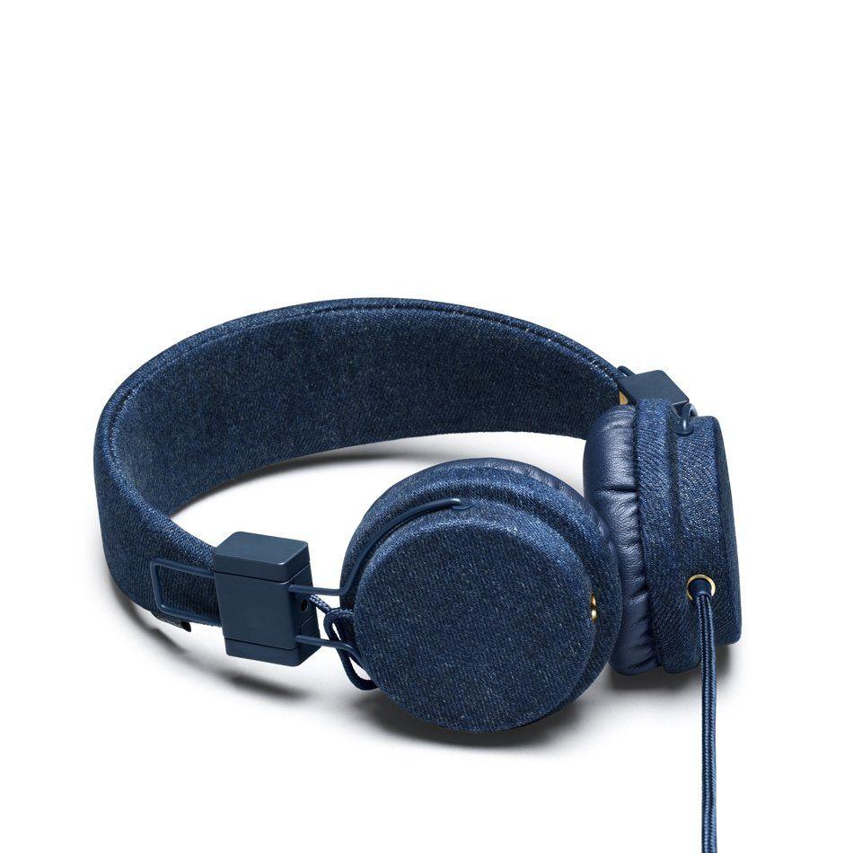 Raw denim finish and brass accents on Urbanears' latest Plattan headphones