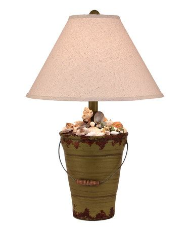 Look what I found on #zulily! Green Shell Bucket Table Lamp #zulilyfinds