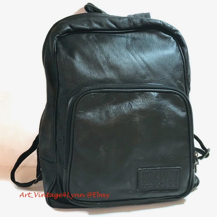 Ridgeway Kelty black leather backpack for men   women at  Art Vintage4Lynn   Ebay to buy click image  Vintage  VintageAccessories  LeatherBackpack ... b64e49fb222be