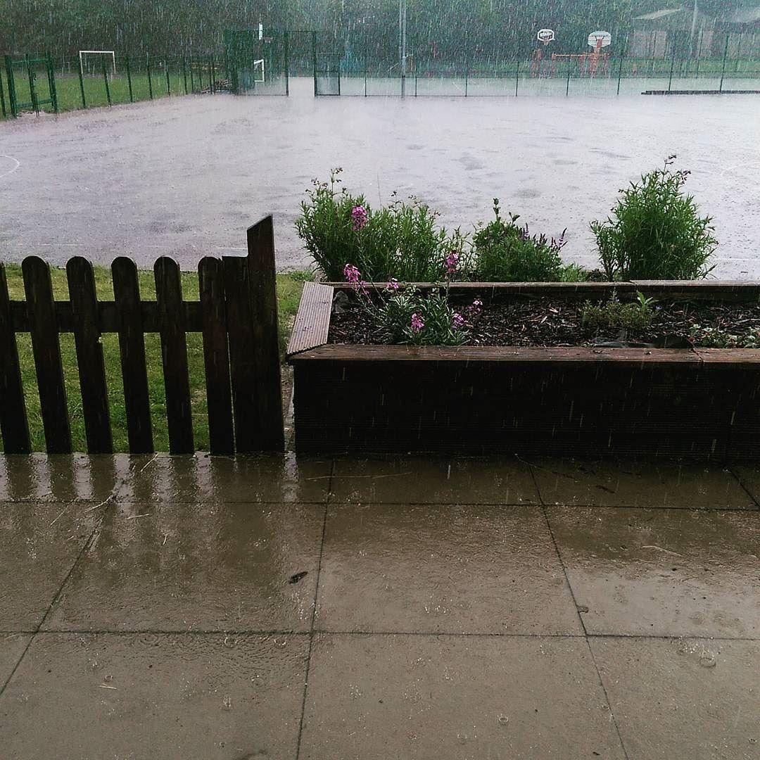 I really don't enjoy doing the school run in a monsoon! #whereissummer #itswetoutside