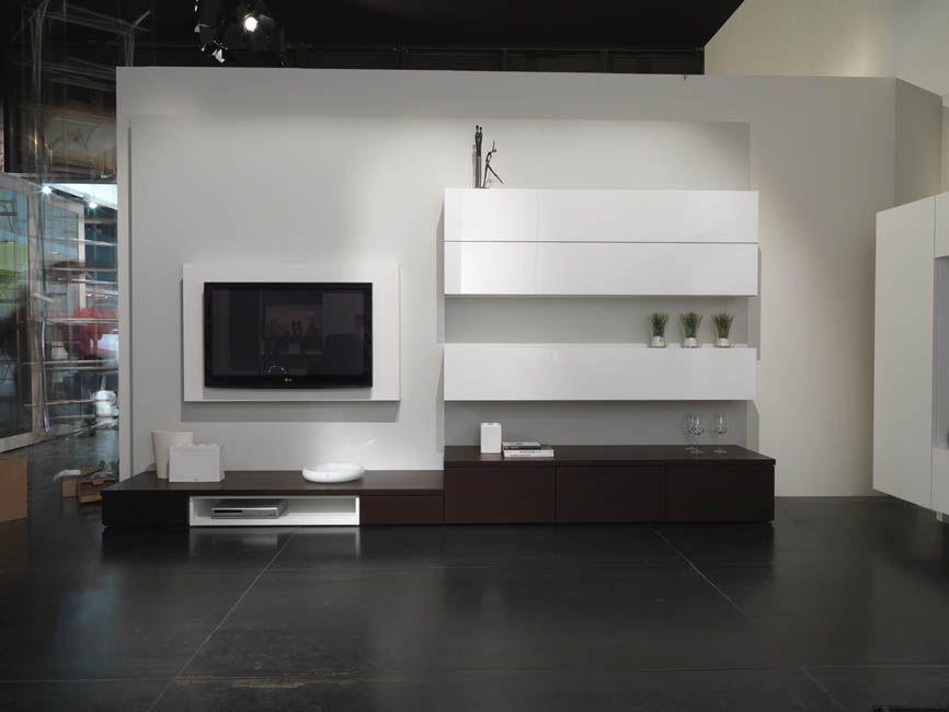 SOGGIORNI MODERNI, SOGGIORNO DESIGN, MADIE MODERNE | TV - parede TV ...