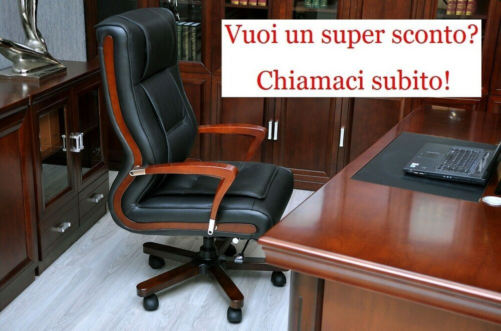 Poltrona sedia direzionale presidenziale per ufficio ...