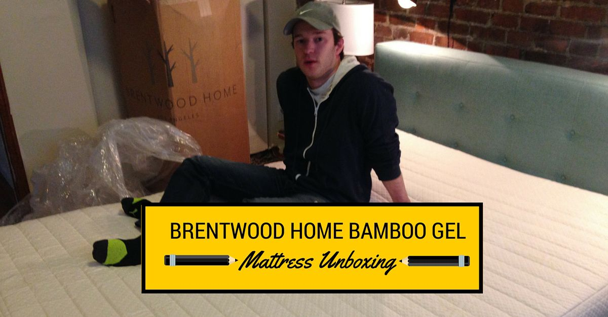 Brentwood Home 13 Bamboo Gel Unboxing Gel Mattress Brentwood How To Remove