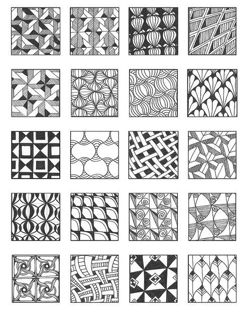 Zentangle patterns grid 9 flickr photo sharing for Zentangle tile template
