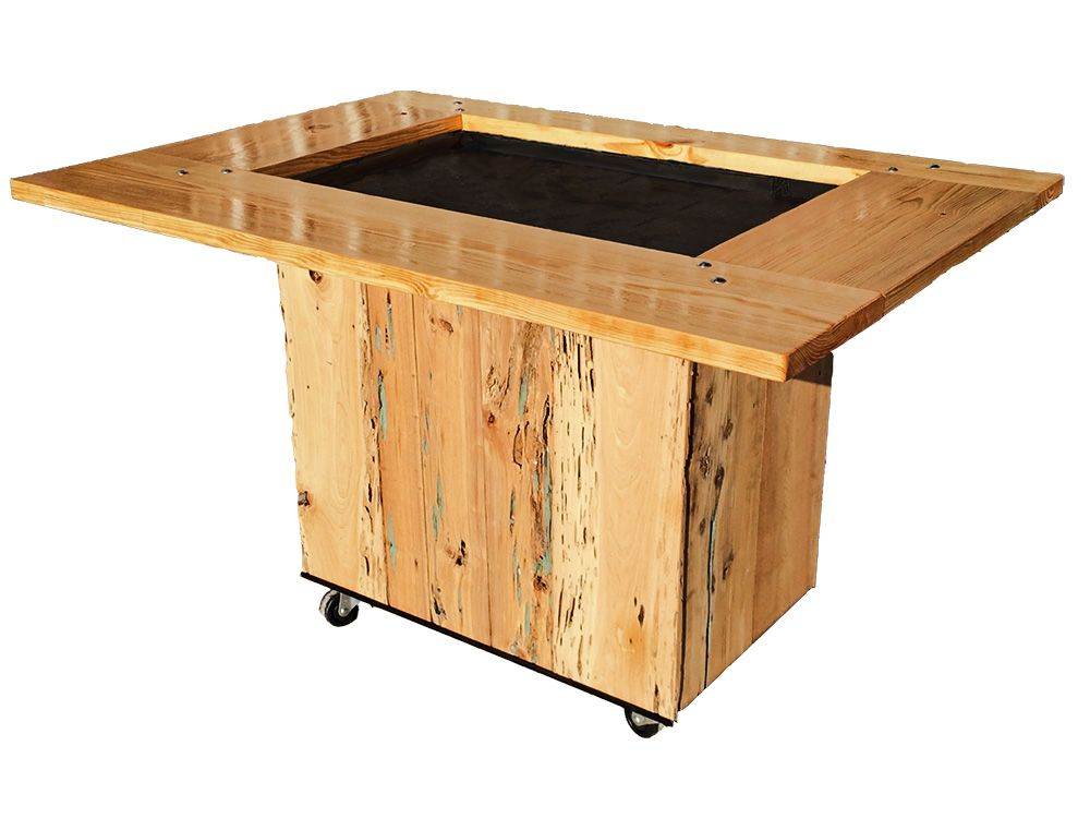 Reclaimed Cypress Backyard Hibachi Table #grill #backyard ...